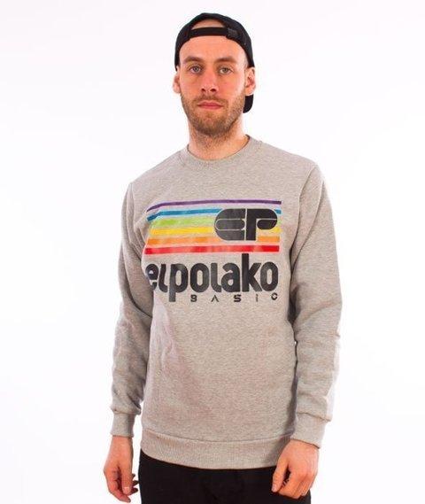 El Polako-Rainbow Crewneck Bluza Szary