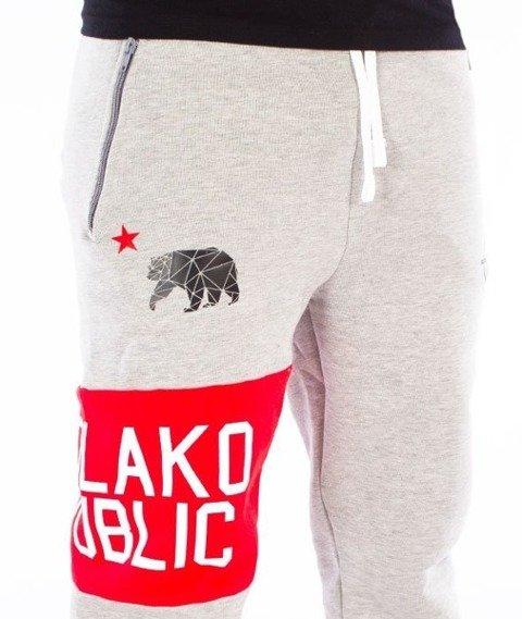 El Polako-Republic Fit Spodnie Dresowe Szare