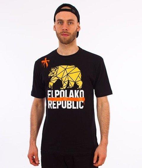 El Polako-Republic T-Shirt Czarny