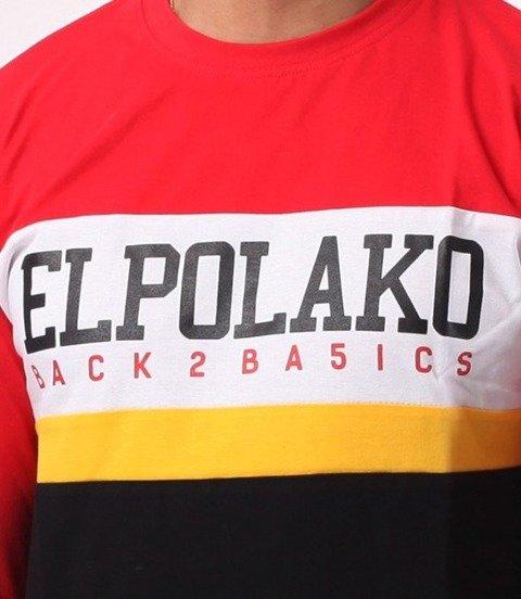 El Polako-School Longsleeve Czerwony