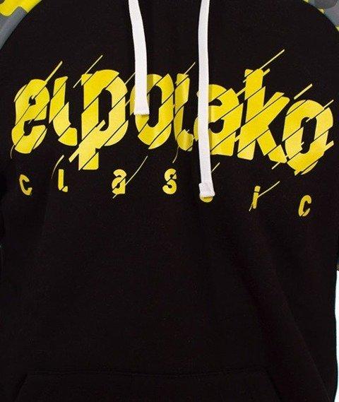 El Polako-Sleeve Moro EP Cut Bluza Kaptur Czarny/Camo