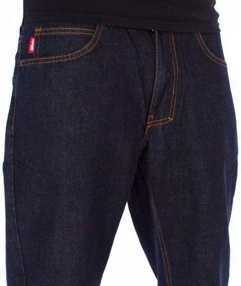 El Polako-Splash Tags Slim Jeans Spodnie Dark Blue