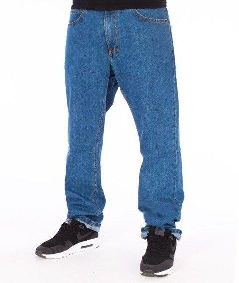 El Polako-Splash Tags Slim Jeans Spodnie Light Blue