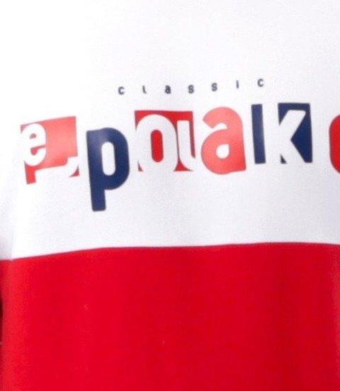 El Polako-Square Cut Bluza Czerwony/Granat