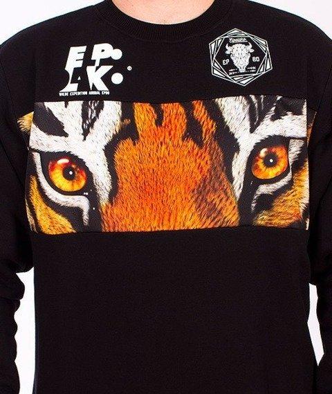 El Polako-Tiger Wild Eyes Bluza Czarna/Multikolor