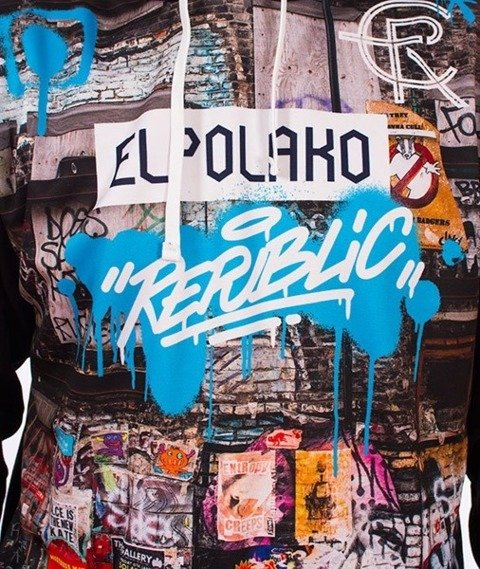 El Polako-Urban Street Bluza Kaptur Czarny