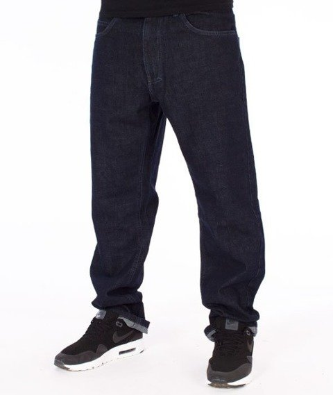 El Polako-Written Slim Jeans Spodnie Dark Blue