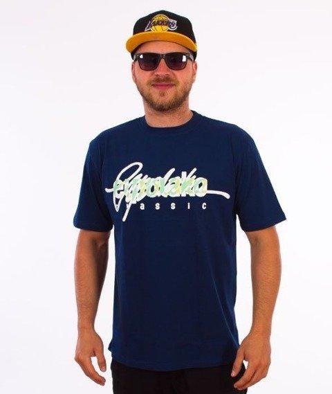 El Polako-Written T-Shirt Granatowy