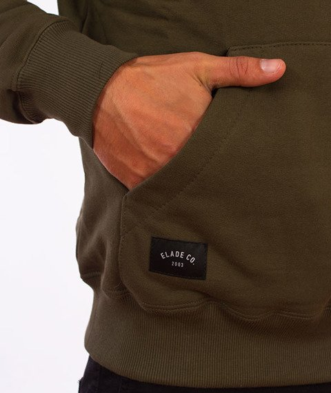 Elade-Box Logo Bluza Kaptur Oliwkowa