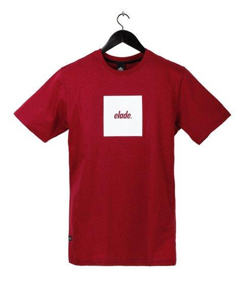 Elade-Box Logo T-Shirt Maroon