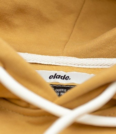 Elade Hoodie Box Logo Bluza Kaptur Beige