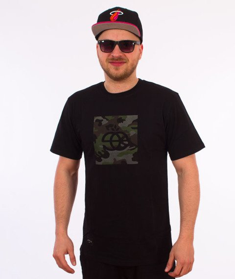 Elade-Icon Camo T-Shirt Czarny
