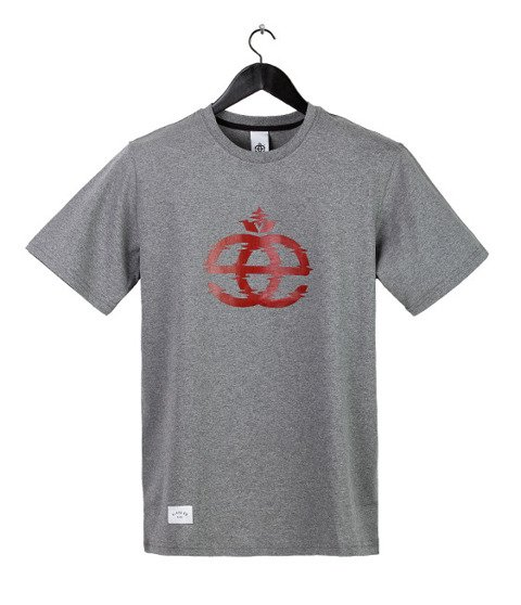 Elade-Icon Glitch T-Shirt Grey