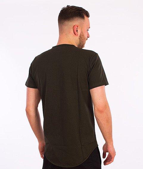 Elade-Minimal Scallop T-Shirt Oliwkowy
