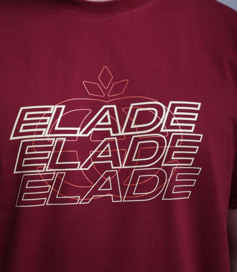 Elade Multi Logo Elade T-Shirt Bordowy