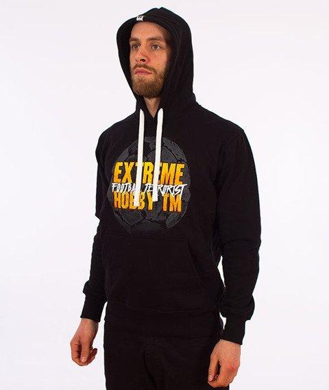 Extreme Hobby-Football Terrorist Hoodie Bluza Kaptur Czarna