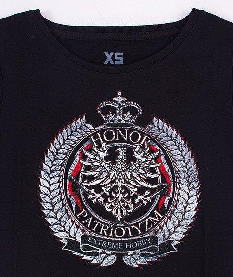 Extreme Hobby-Honor I Patriotyzm T-shirt Damski Czarny