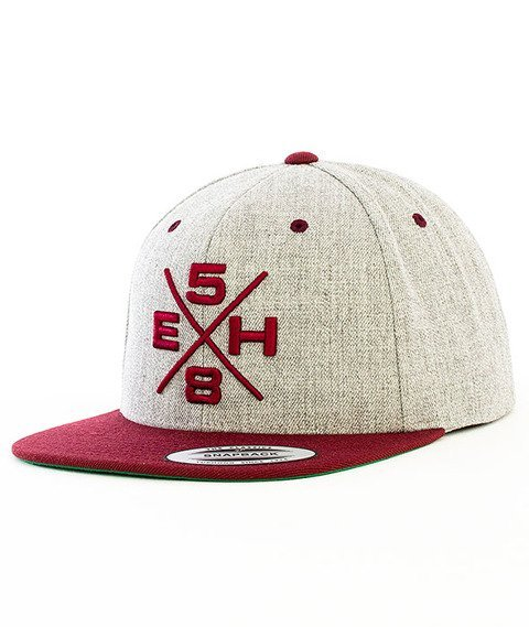 Extreme Hobby-Rebel Snapback Szary/Bordowy