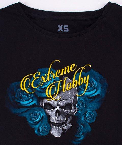 Extreme Hobby-Skull Rose T-shirt Damski Czarny