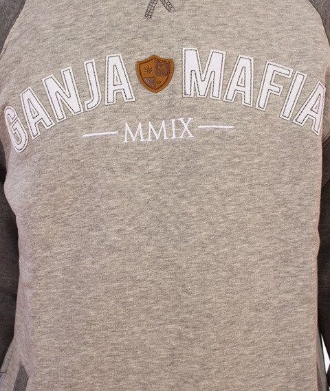Ganja Mafia-Klasyk Campus Bluza Gray