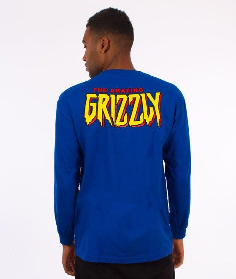 Grizzly-Spiderman Cover Longsleeve Royal Blue