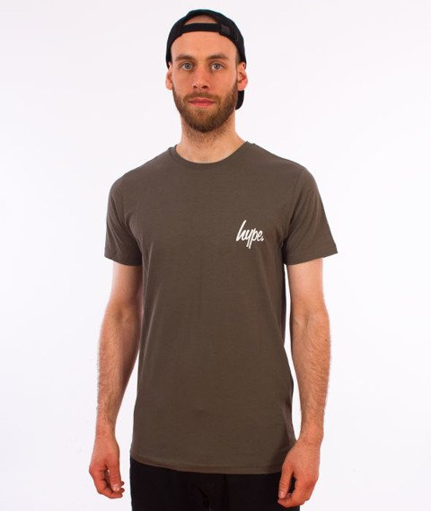 Hype-Disheleved T-Shirt Khaki