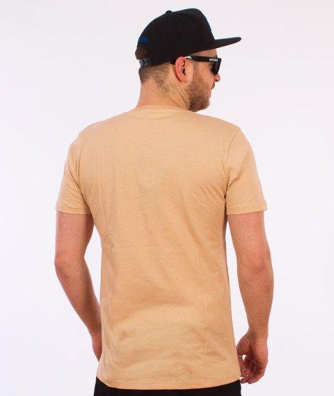 Hype-Giltch Script T-Shirt Piaskowy