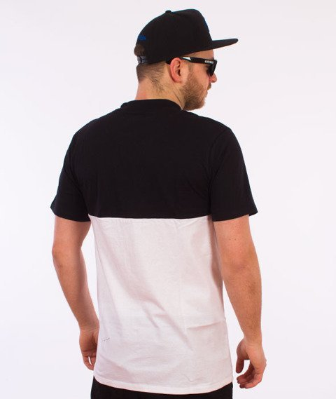 Hype-Turtleneck Half T-Shirt Czarny/Biały