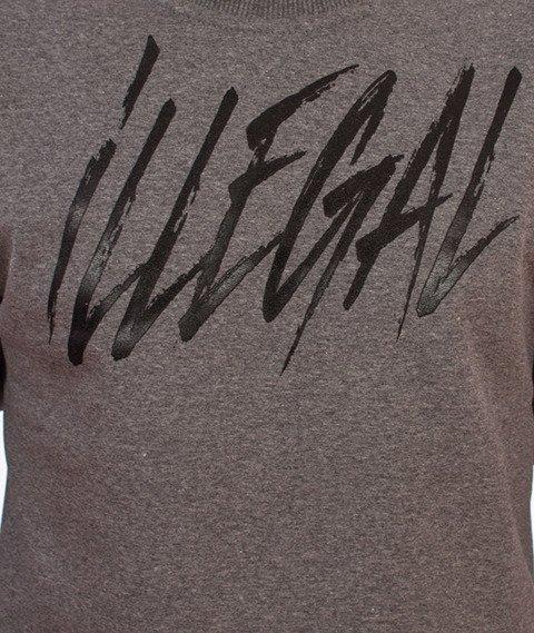 Illegal-Illegal Tag Bluza Grafitowa