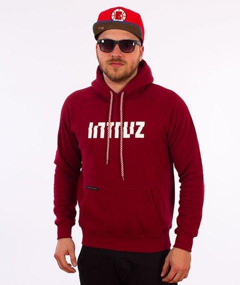 Intruz-Logo Bluza Kaptur Bordowy