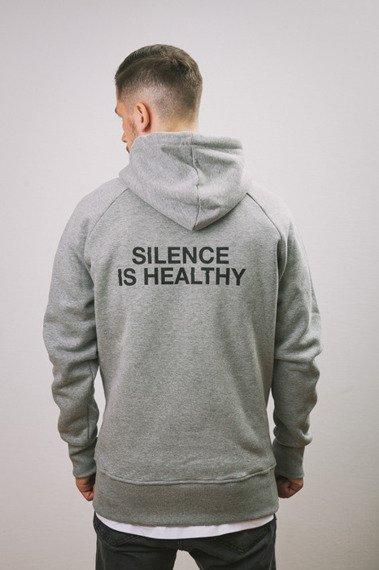 Intruz-Silence Bluza Z Kapturem Szara