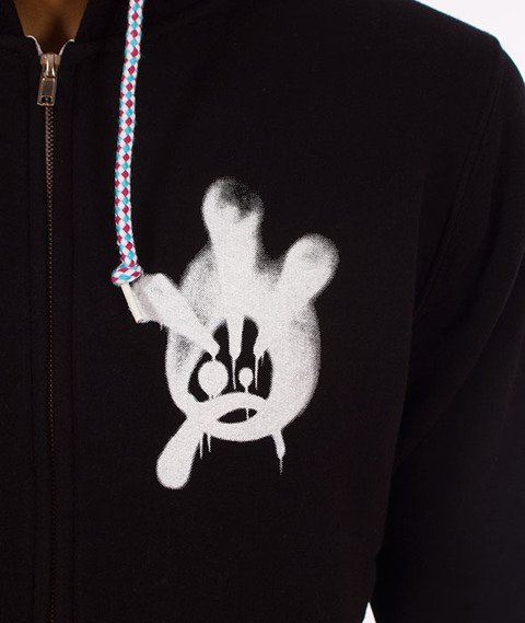JWP-ZIP NY Hoody Fat Boy Kaptur ZIP Czarny
