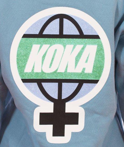 Koka-Ocean PKWY Bluza z Kapturem Damska Jasno-Niebieska