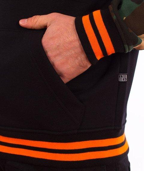 Lucky Dice-Hoodie Logo on Sleeve Bluza Czarna