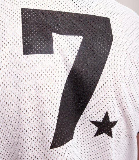 Lucky Dice Jersey Seven LD T-Shirt Biały/Czarny