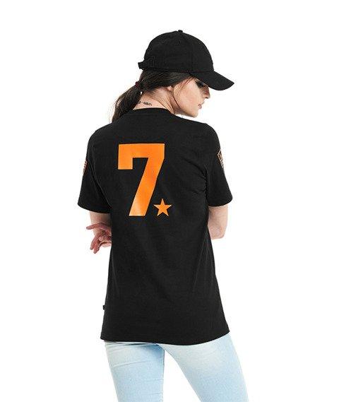 Lucky Dice-LD Seven T-Shirt Damski Czarny/Pomarańczowy