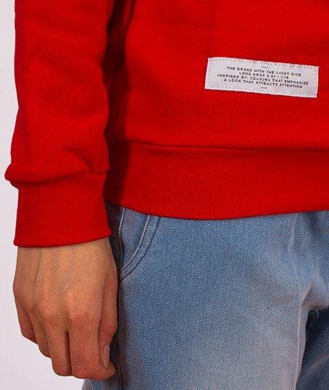 Lucky Dice-Logo Bluza Damska Czerwona