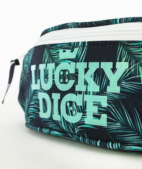 Lucky Dice-Logo Green Leaves Saszetka Multikolor