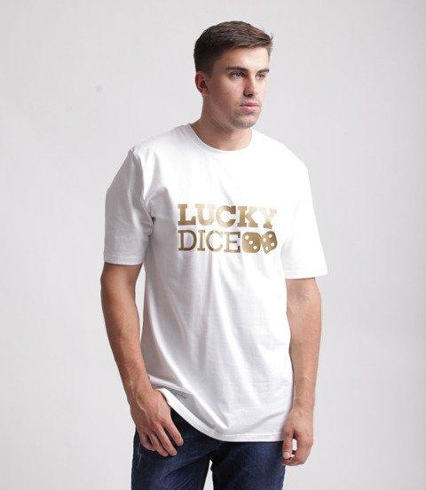 Lucky Dice Logo T-Shirt Biały/Złoty
