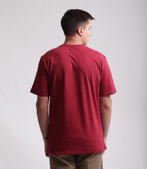 Lucky Dice Logo T-Shirt Bordowy