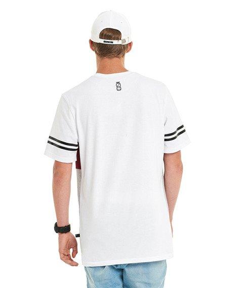 Lucky Dice-New College T-shirt Biały/Bordowy