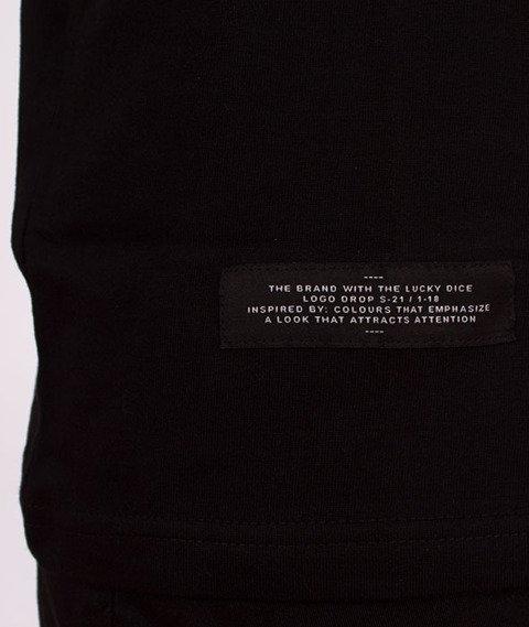 Lucky Dice-Nine Letters T-shirt Czarny/Pomarańczowy