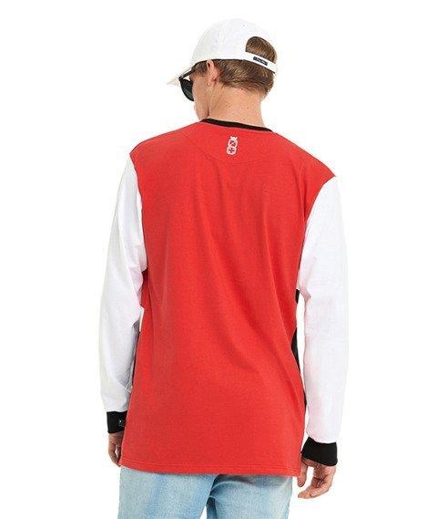 Lucky Dice-Royal College Longsleeve Czerwony/Czarny/Biały