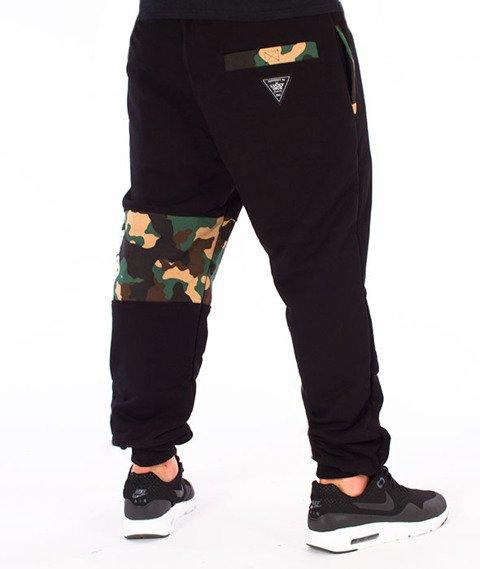 Lucky Dice-SP Cut Sweatpants Spodnie Dresowe Czarne/Camo