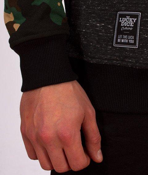 Lucky Dice-Stripes Raglan Crewneck Bluza Green Camo