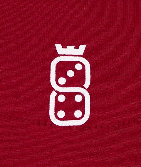 Lucky Dice-Tape LD T-shirt Bordowy