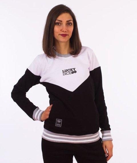 Lucky Dice-Triangle Girl Crewneck Bluza Damska Czarna/Biała