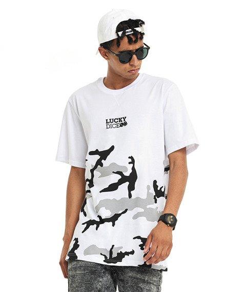 Lucky Dice-Urban Camo T-shirt Biały/Szary