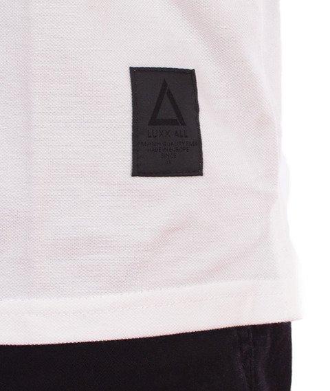 LuxxAll-Polo T-Shirt Biały