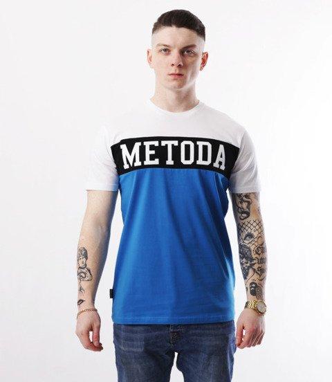 METODA -3 Colors T-Shirt Biało Niebieski